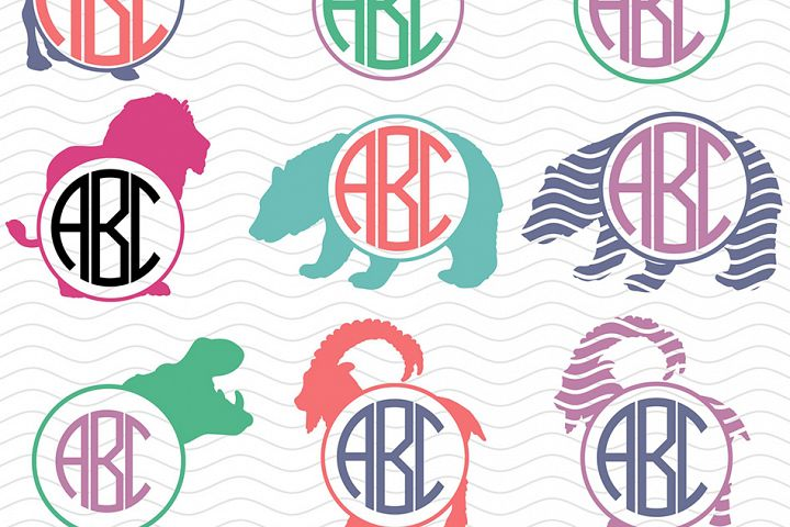 Wild Animals Monograms Svg