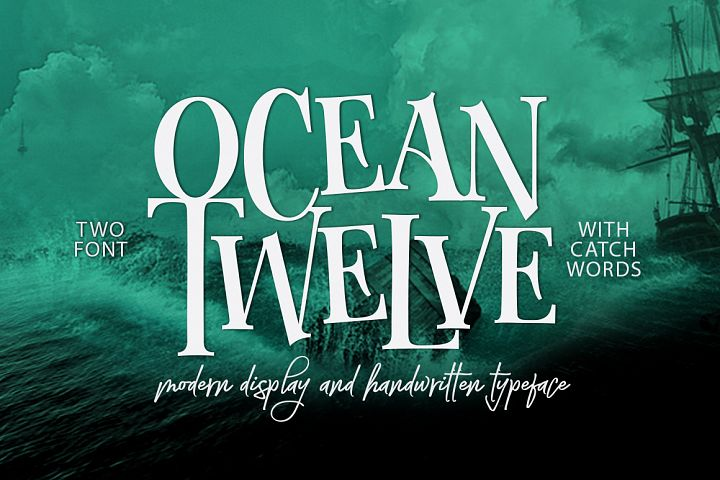 Ocean Twelve Font Duo + Extras