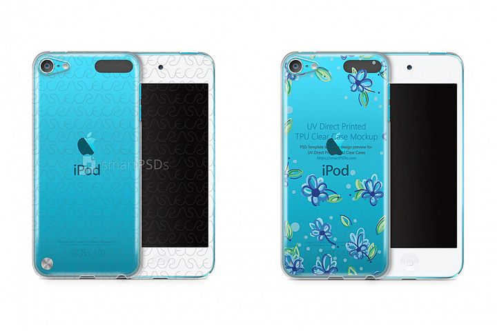 Apple iPod 5 TPU Clear Mobile Case Design Mockup 2012
