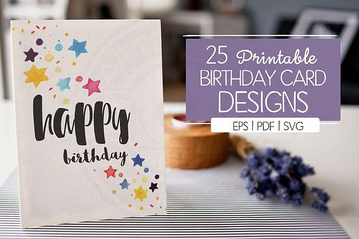 25 Birthday Cards