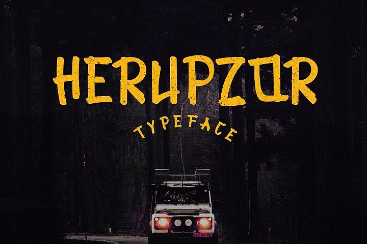 Herupzor Typeface
