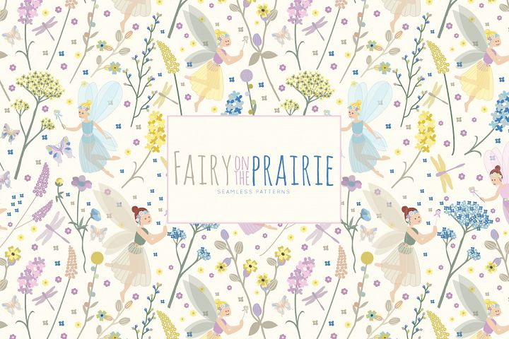 Fairy on the Prairie Vector Patterns - 6 Pattern Collection