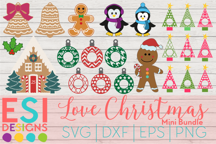 Love Christmas Mini Bundle | SVG DXF EPS PNG
