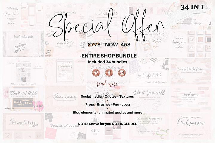 Entire shop bundle - 31 in 1