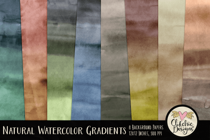 Natural Watercolor Gradient Background Textures