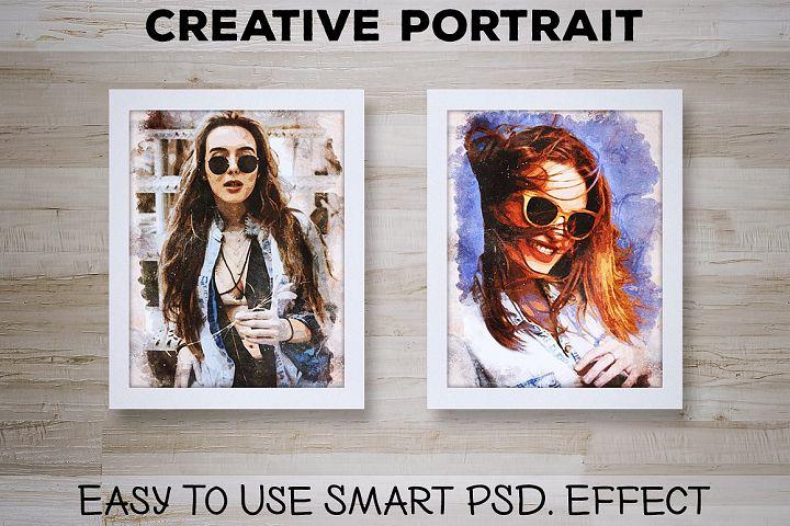 Creative Portrait: Smart PSD. Effect