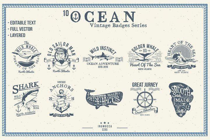 10 Ocean Vintage (editable text)