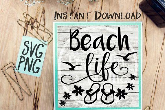 Beach Life SVG Image Design for Vinyl Cutters Print DIY Shirt Design Cruise Vacation Anchor Brother Cricut Cameo Cutout