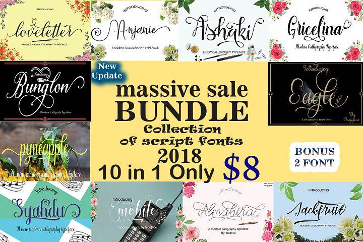 Bundle (collection of script fonts)  2018