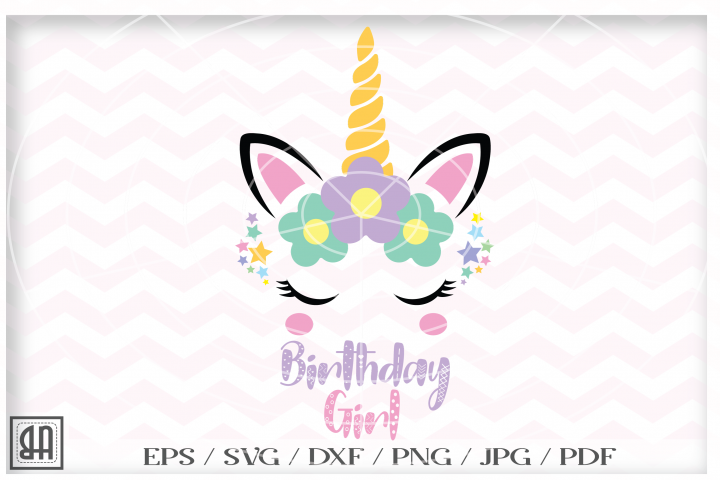 Unicorn girl svg - Unicorn birthday girl svg - Unicorn SVG