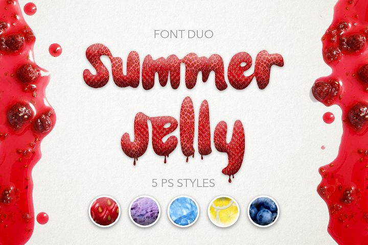 Summer Jelly font duo + PS Styles.