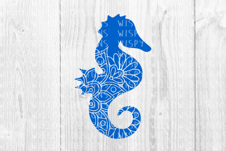 Seahorse Mandala SVG, Sea Horse DXF, PDF, PNG, EPS, JPEG, Digital Download File, Mandala Animal