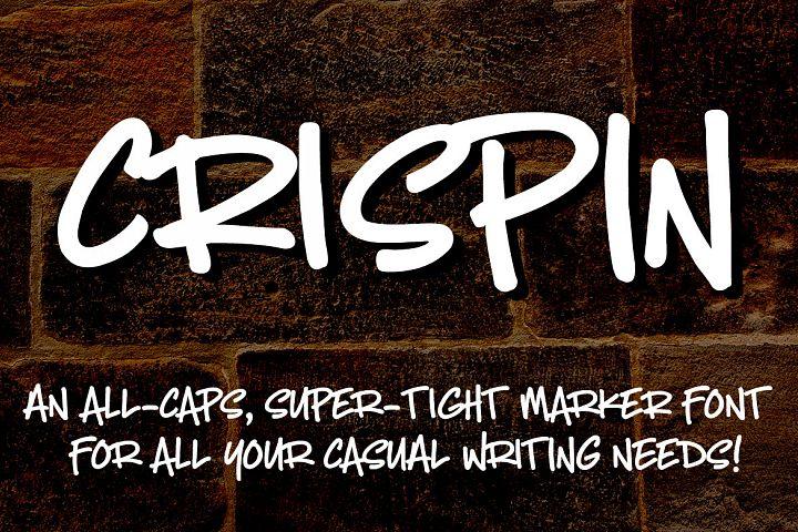 Crispin: handwritten marker font