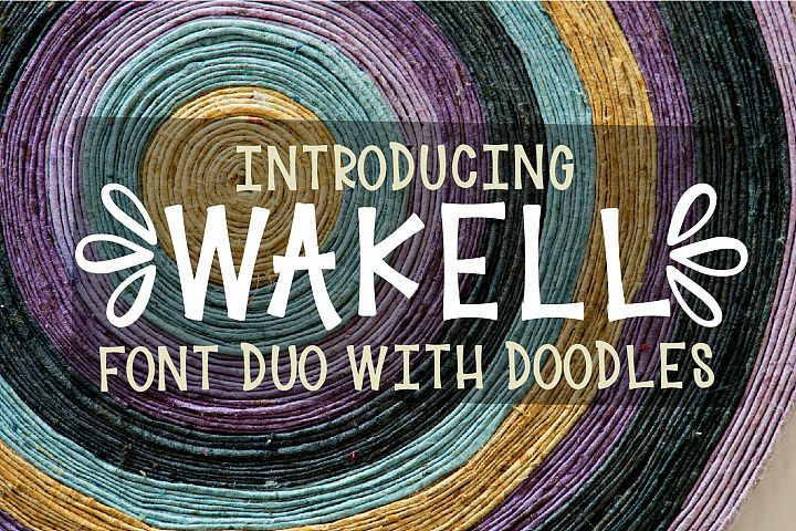 Wakell - Font Duo With Ornament Font