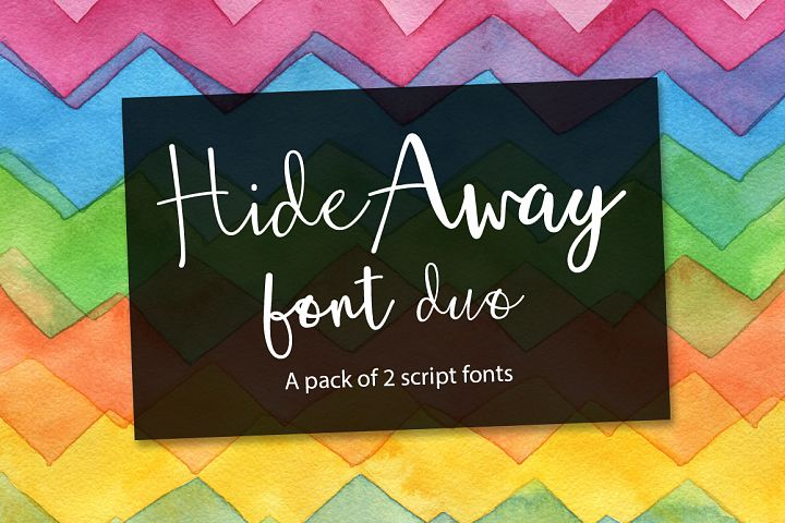 Hide Away Font Duo