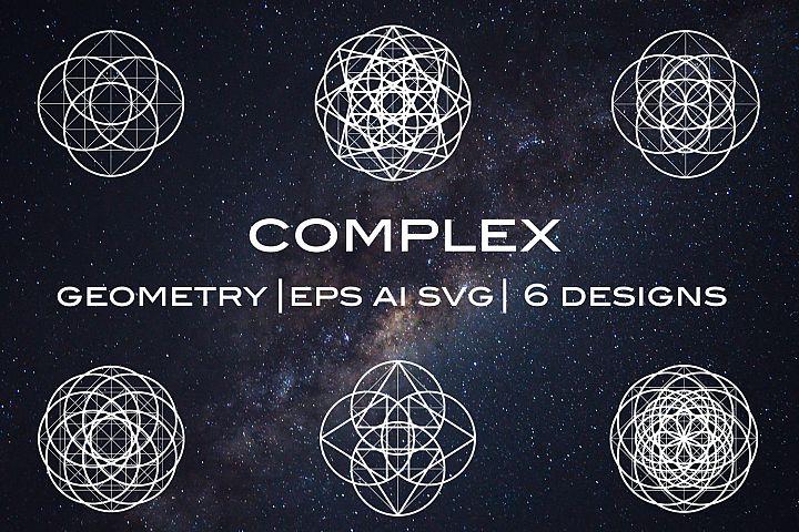 Complex Chakra Geometric Meditation Shapes