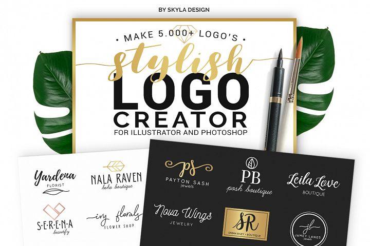 Stylish Logo Creator Kit for Illustrator + Photoshop