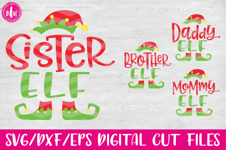 Elf Family Bundle - SVG, DXF, EPS Cut Files