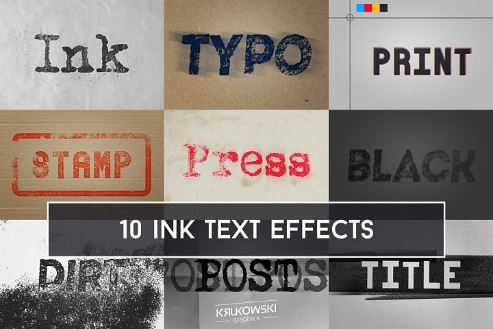 Ink Text Effect Mockup