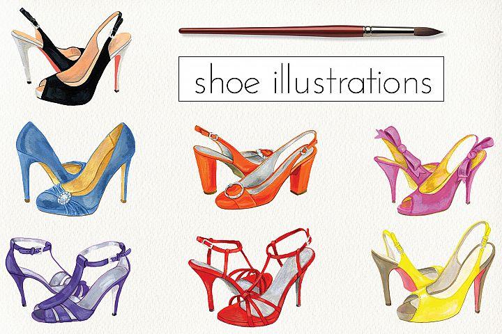 Fashion Shoe Illustrations