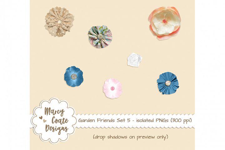Garden Friends Set 5 - Silk Flowers isolated PNGs