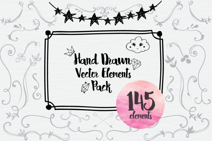 Hand Drawn Vector Elements Pack