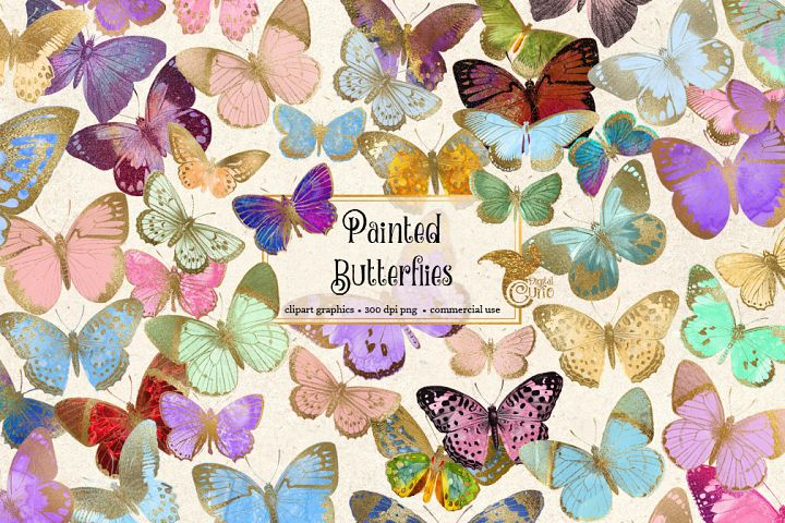 Painted Butterfly Clipart