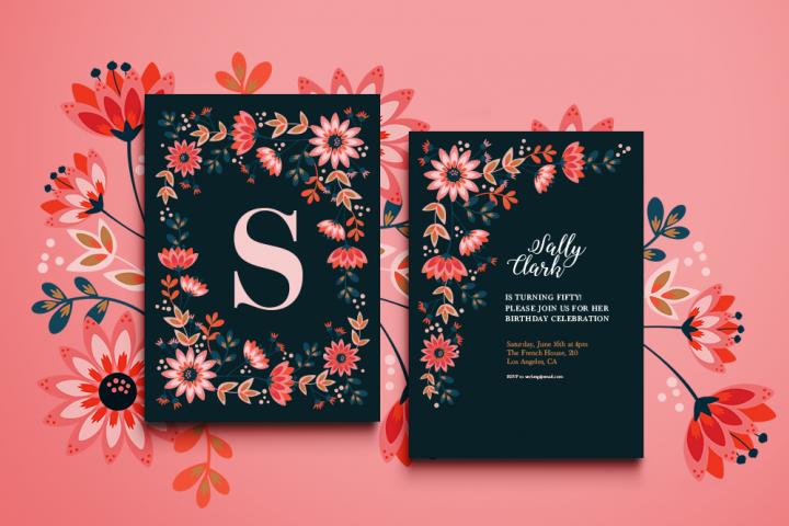 Sochi Floral Invitation