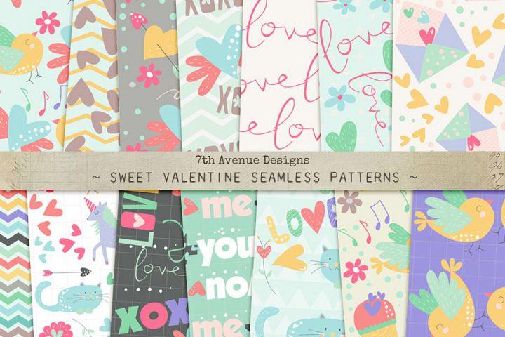 Sweet Valentine Seamless Patterns