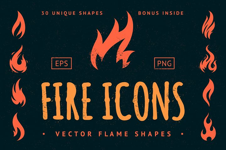 Vector Fire Icons