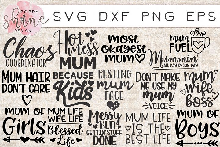 Mummin Bundle of 15 SVG PNG EPS DXF Cutting Files