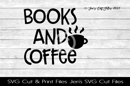 Books And Coffee SVG Cut File