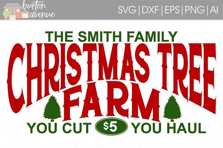 Christmas Tree Farm SVG File