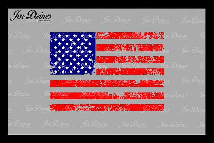 Distressed Flag SVG DXF EPS PNG