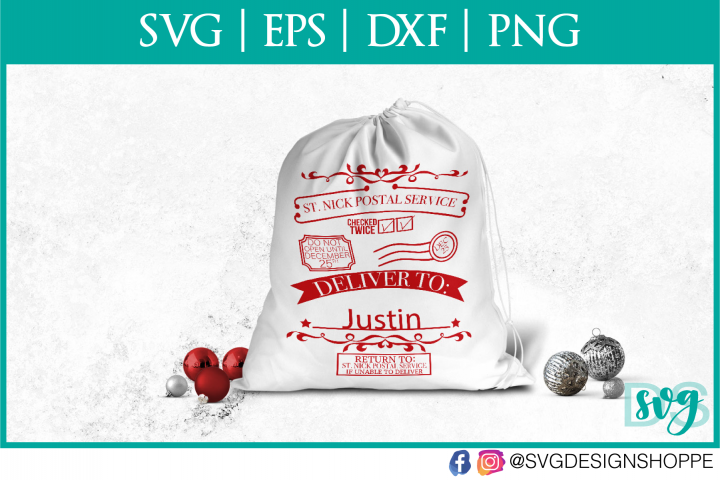 Christmas, Svg file for Cricut, Santa Sack, Santa Sack SVG