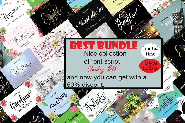 Best Bundle nice collection of font script