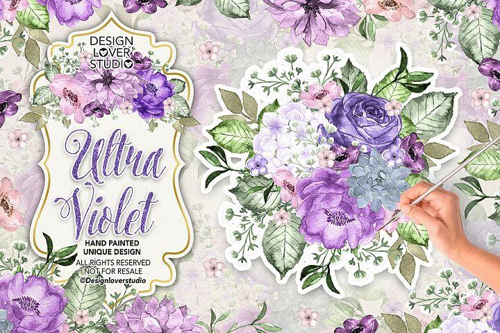 Ultra Violet watercolor design
