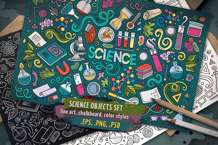 Science Objects & Elements Set