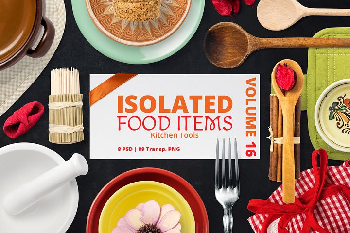 Isolated Food Items Vol.16
