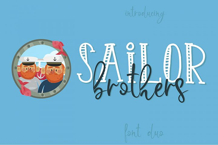 Sailor Brothers Font Duo