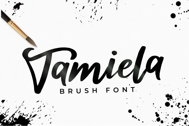 Tamiela - Brush Font