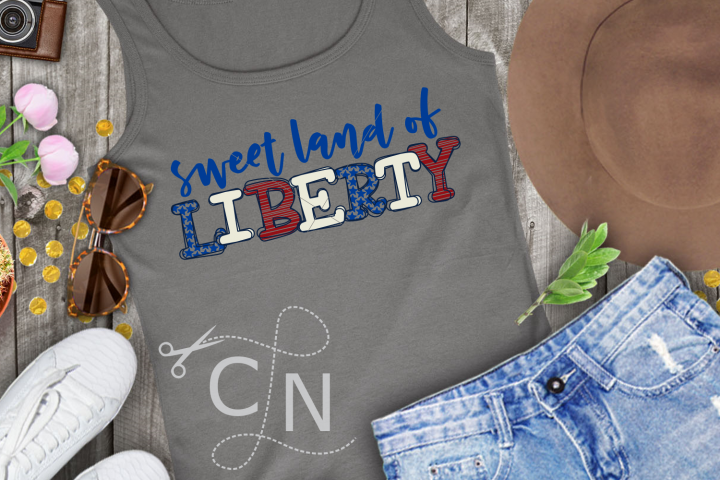 Sweet Land Of Liberty - Patterned Letters