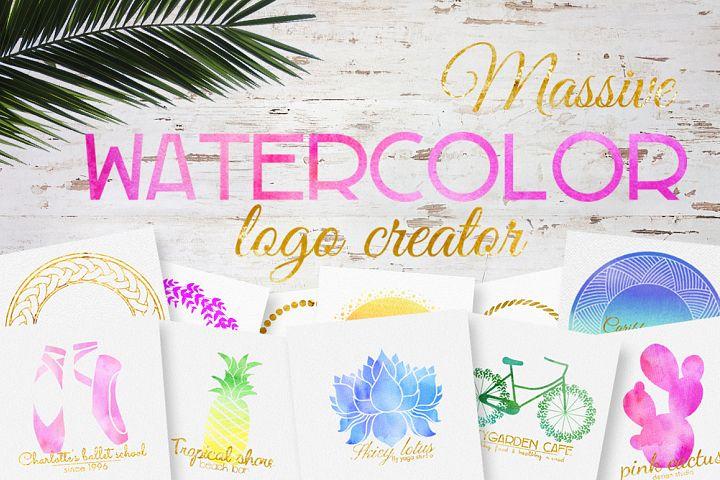 Massive watercolor logo creator