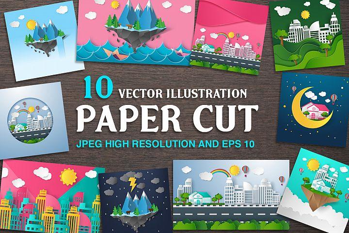 paper cut - vector illustration