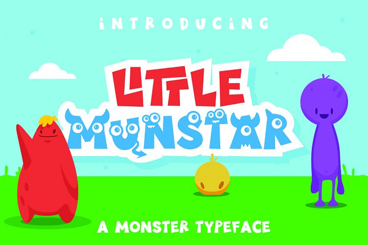 Little Munstar - A Monster Font