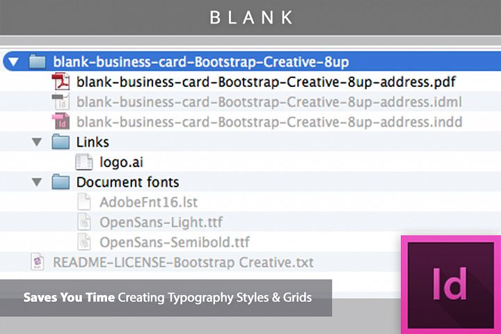 Blank business card indesign template design bundles blank business card indesign template example 2 accmission Image collections