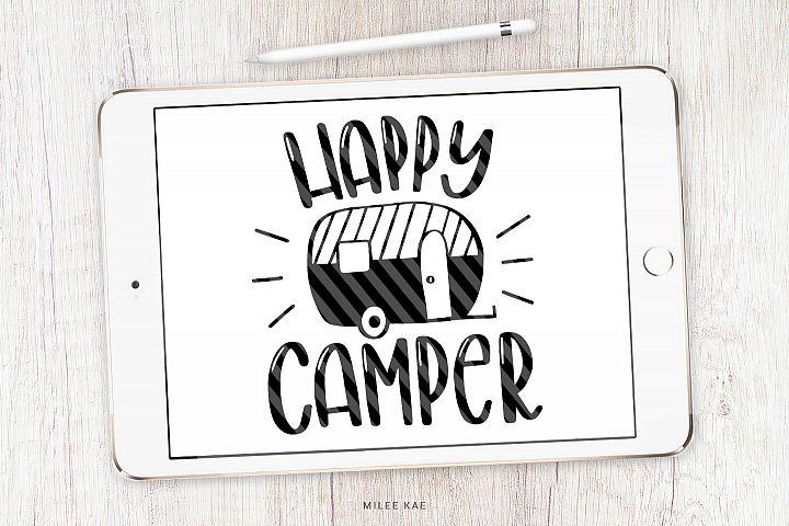 Happy Camper SVG, Cutting file, Decal
