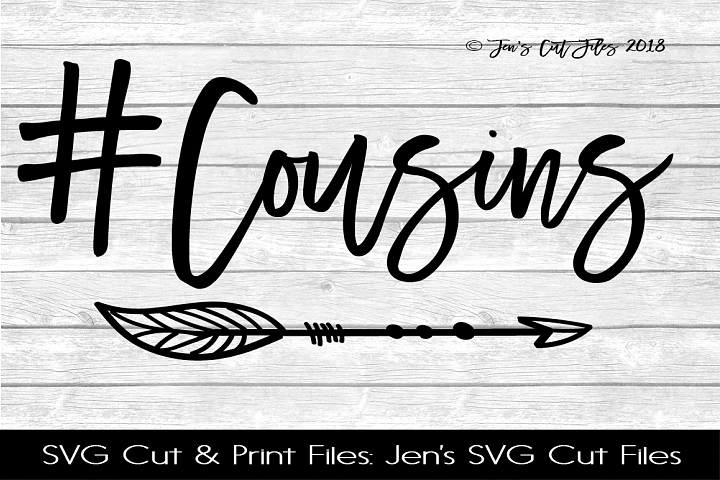 Cousins Hashtag SVG Cut File