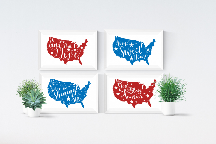4th of July SVG, Patriotic SVG Files, USA Clipart Files, Circuit Design Files, Silhouette Cameo Cut Files, Commercial Use