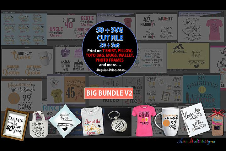 Svg cut file bundle/over 50 plus cut files /printable vector